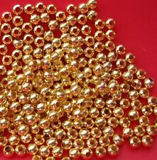 200pcs-Spacer  Beads Round  Gold  Plated.