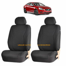 BLACK SPEED AIRBAG COMPATIBLE LOWBACK SEAT COVER SET for VOLVO C30 S40 XC 70