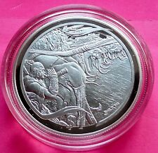 2003 NEW ZEALAND SILVER LOTR -  MARCH OF THE OLIPHANTS  $1  PROOF COIN + COA