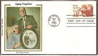US SC # 2011 Aging Together  FDC. Colorano Silk Cachet.