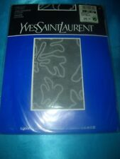 Yves Saint Laurent gemusterte Feinstrumpfhose Gr. 40-42 schwarz Collant OVP