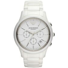 NEW EMPORIO ARMANI AR1453 GENUINE MEN'S WATCH CHRONOGRAPH WHITE CERAMICA