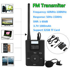 Portable Wireless FM Transmitter Stereo Radio 3.5mm MP3 TF Card Broadcast Lot CT
