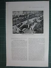 1917 WWI WW1 PRINT ~ A GERMAN SUBMARINE IN THE LOAN PARADE