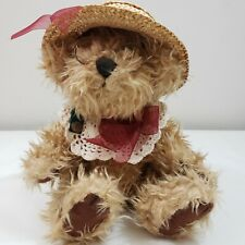 """1996 The Brass Button Collection Rosie Teddy Bear 9"""" Plush Stuffed Soft Vintage"""