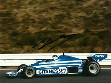 Jean Pierre Jarier 1977 Japanese Grand Prix F1 signed photo Ligier JS 7 Shadow