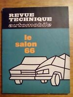 REVUE TECHNIQUE AUTOMOBILE SALON 1966