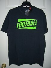 Under Armour Shirt, Men's 2XL, Black, UA Football, New with Tags