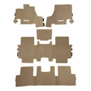 OEM 2012-2015 Nissan Quest Beige Carpeted Floor Mats 5-Pieces NEW 999E2-NX012