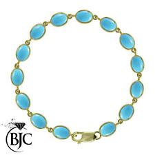"Turquoise Fine Bracelets 7.5 - 7.99"" Length"