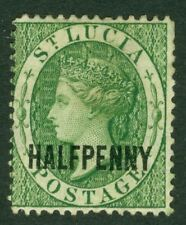 SG 23 St Lucia 1881. ½d green. Fine mounted mint CAT £85