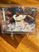 2020 TOPPS CHROME JUSTIN DUNN  AUTO  ROOKIE CARD SEATTLE