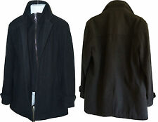 Mens Marks and Spencer Collection  Winter Overcoat with implied second layer M