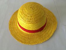 Luffy Hat - Handmade One Piece Monkey D Luffy Straw Hat Cosplay Yellow Cap