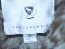 Abercrombie & Fitch Faux Fur Sweater Jacket Zippered Front MED Cashmere Angora