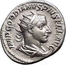 GORDIAN III 240AD  Silver Ancient Roman Coin Felicitas Good luck Cult  i55695