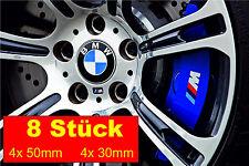 8 Stück BMW M Logo Bremssattel Hochtemperatur Vinyl Aufkleber Grafik Performance