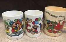 Vtg Walt Disney World Plastic Mug Cup DEKA & Superseal Mickey Minnie Train