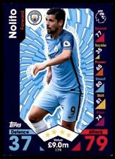 Match Attax 2016-2017 Nolito Manchester City Base card No. 179