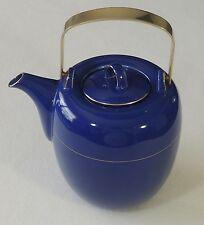 Mikasa Japan Transition 5 Cup Granada Blue NG002 Teapot Coffee Pot EUC