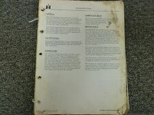 International Harvester Ih Td30 Td25 Td20 Td18A Tractor Service Repair Manual