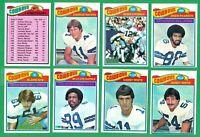 1977 TOPPS DALLAS COWBOYS TEAM SET NM/MT  SB XII  WHITE  JOHNSON RC  STAUBACH