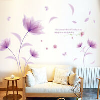 KE_ CG_ Flying Flower Petal Removable Wall Sticker Bedroom Decal DIY Decor Cha