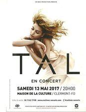 FLYER PLV - TAL : EN CONCERT LIVE - MAI 2017 A CLERMONT FERRAND  ( FRANCE )