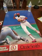 VINTAGE  OZZIE SMITH ST. LOUIS CARDINALS RARE SPORTS ILLUSTRATED 23 X 33 POSTER