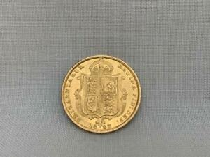 Excellent 1887 Victoria Gold Shield Back Half Sovereign.