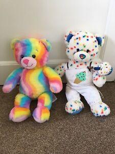 Build A Bear Rainbow Multicoloured And Ice Cream Sprinkles Soft Plush Toy