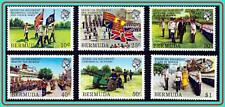 BERMUDA 1982 MILITARY REGIMENT SC#423-28 MNH FLAGS, ROYALTY, UNIFORMS