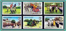BERMUDA 1982 MILITARY REGIMENT SC#423-28 MNH FLAGS, ROYALTY, UNIFORMS
