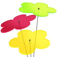 3 Stück SUNPLAY Sonnenfänger Ø20cm Suncatcher Gartenstecker Blumen Farbmix