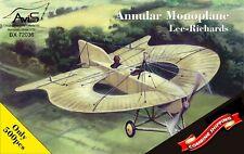 AVIS 72036 Lee-Richards annular monoplane scale plastic model kit 1/72