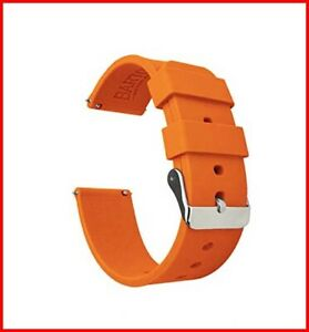 Barton Silicone Watch Bands - Quick Release Straps - Choose Color & Width - 16mm