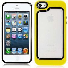 Apple Iphone 5 5S cover case rubber silicone bumper yellow funky case new unique