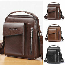 Men Vintage Leather Handbag Messenger Satchel Casual Shoulder Crossbody Tote Bag