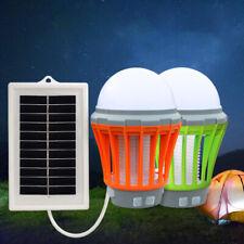 2x Lampe Anti Moustique Lumières de Camping Solaire Lampe Lanternes de randonnée