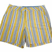 """Andrew Marc Yellow Multi Inseam 5"""" Women Shorts. Size 6. New With Tags"""