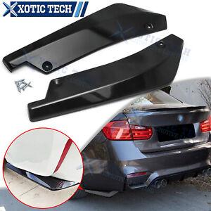 For BMW F30 F31 F32 F33 F22 Gloss Black Rear Bumper Splitter Diffuser Canards
