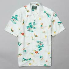 NWT Gitman Brothers White Surf & Turf Camp Collar Short Sleeve Shirt (Size Med)