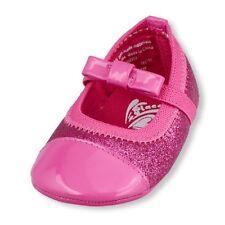 The Children's Place Baby Girls Li'l Glitter Ballet Flat Bow Shoes SZ 6-12 MOS