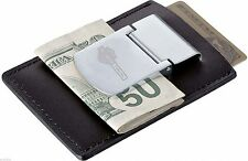 FORD HARLEY DAVIDSON F150 OR SUPER DUTY LEATHER ZIPPO WALLET & CHROME MONEY CLIP