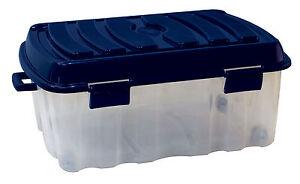 XXL Profi Rollenbox 90 Liter mit Deckel Aufbewahrungsbox Kunststoff Box PLS535V