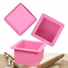 Large Cube Square Soap Candle Cake Jello Lotion Bar Silicone Mold Supplies 500ml