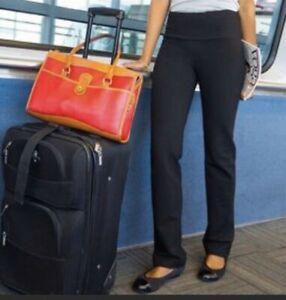 Betabrand Handsfree Jersey Travel Yoga Pants Black Large EUC