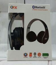 QFX Bluetooth  Stereo Headphones-BLACK NEW! Model: H-251BT-RED Adjustable