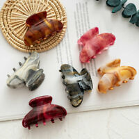 Women Acrylic Hair Claws Clips Crab Barrette Geometric Ponytail Hairpins T7R5