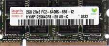 2GB PC2-6400 Laptop Memory HP Part# 530790-001 535774-001 537665-001 538436-001